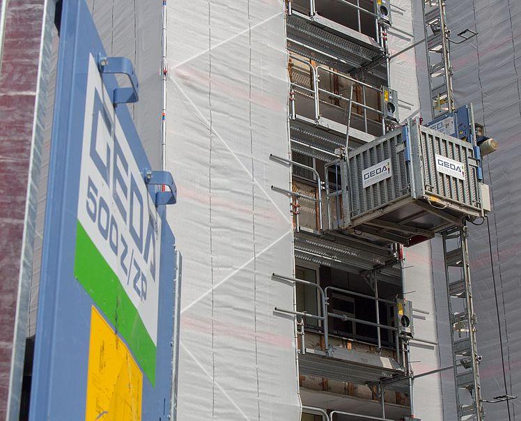 GEDA Bauaufzug & Transportbühne – Cieslik Gerüstbau